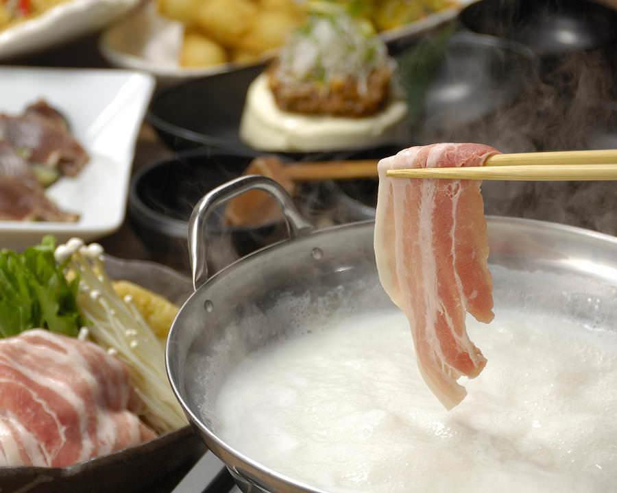米澤豚の豆乳しゃぶしゃぶ